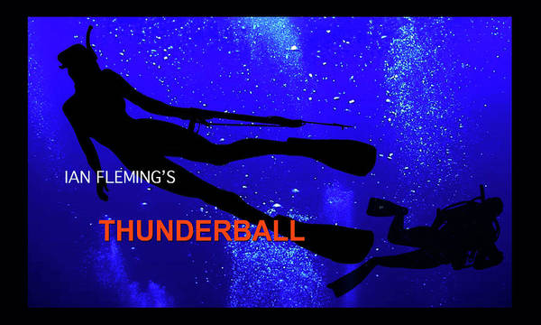 From Russia With Love Wall Art - Mixed Media - Ian Fleming, Thunderball, Opening Film Sequence by Thomas Pollart