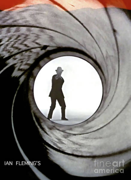 From Russia With Love Wall Art - Mixed Media - Ian Flemings, Dr. No, James Bond, Gun Barrel Sequence by Thomas Pollart
