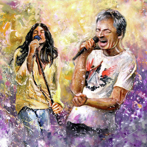 Painting - Ian Gillan Now And Then by Miki De Goodaboom