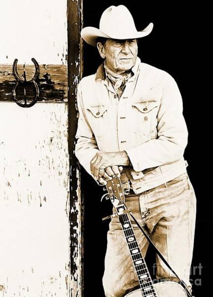 Wall Art - Photograph - Ian Tyson Watercolor Painting by John Malone