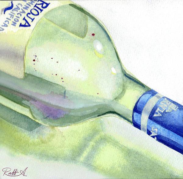 Spanish Wine Painting - Iberian Tranquility by Raffi Antounian
