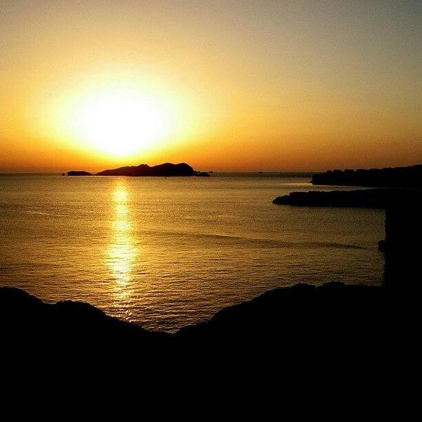 Wall Art - Photograph - Ibiza Sunset #ibiza #calatarida by Gogliardo Maragno