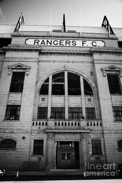 Wall Art - Photograph - Ibrox Stadium Home Ground To Glasgow Rangers Fc Glasgow Scotland by Joe Fox