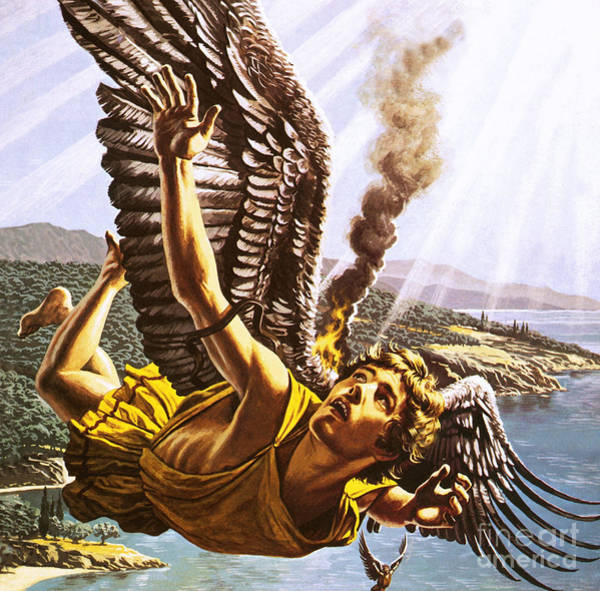 Perilous Wall Art - Painting - Icarus by Roger Payne