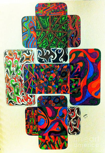 Michael Miller Wall Art - Drawing - Icases by Michael Miller