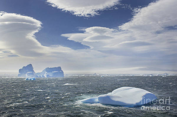 Photograph - Ice And Clouds In Antarctica by Frans Lanting MINT Images