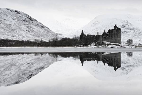 Ice And Snow At Loch Awe Art Print