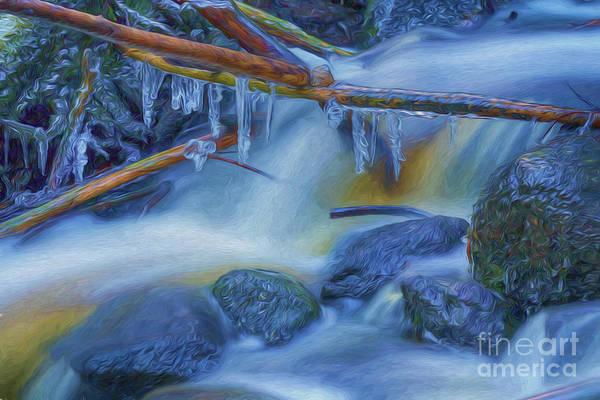 Painterly Digital Art - Ice And Water 2 by Veikko Suikkanen