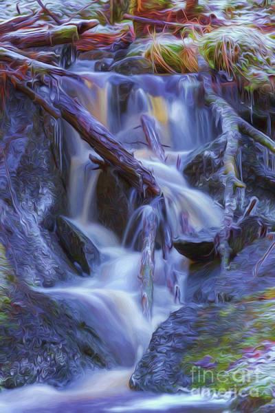 Painterly Digital Art - Ice And Water 3 by Veikko Suikkanen