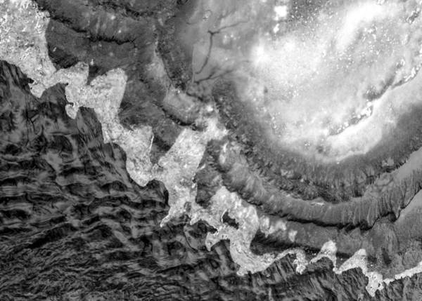 Shattered Photograph - Ice And Water On Minnehaha Creek  by Jim Hughes