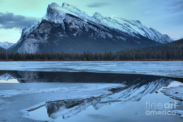 Photograph - Ice Around The Rundle Reflections by Adam Jewell