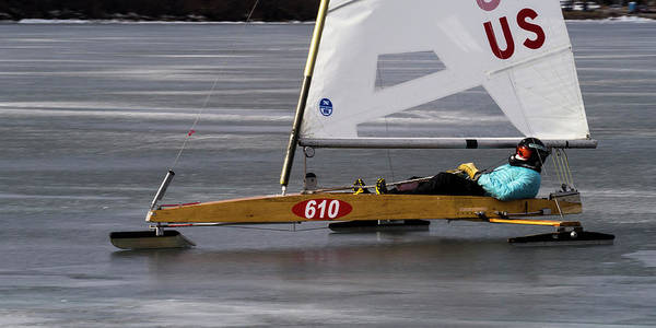 Photograph - Ice Boat - Madison - Wisconsin  by Steven Ralser