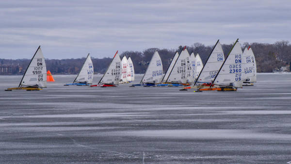 Photograph - Ice Boat Racing - Madison - Wisconsin by Steven Ralser