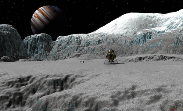 Digital Art - Ice Cliffs Of Europa by David Robinson