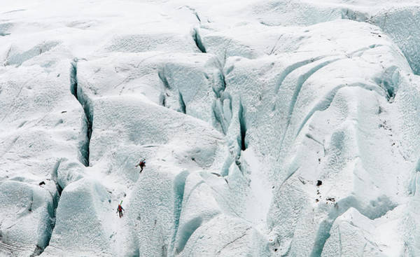 Icelandic Landscapes Wall Art - Photograph - Ice Climbing On A Frozen Glacier by Michalakis Ppalis