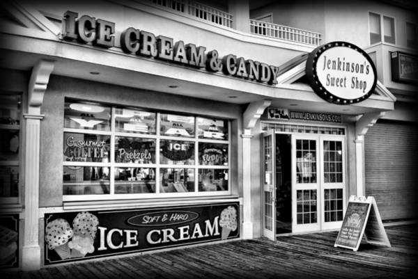 Down The Shore Photograph - Ice Cream And Candy Shop At The Boardwalk - Jersey Shore by Angie Tirado