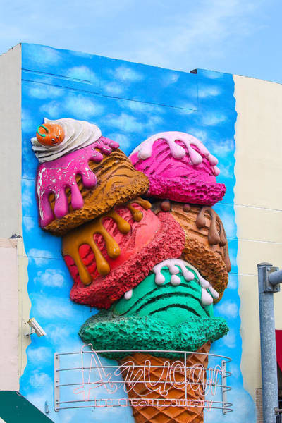 Photograph - Ice Cream Code Building by Dart and Suze Humeston