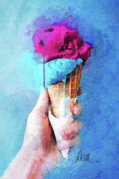 Ice Cream Cones Digital Art - Ice Cream Cone IIi by Damian De Villiers