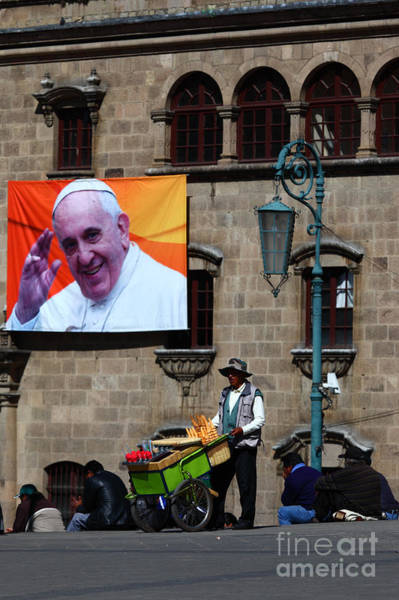 Photograph - Ice Cream For Pope Francis by James Brunker