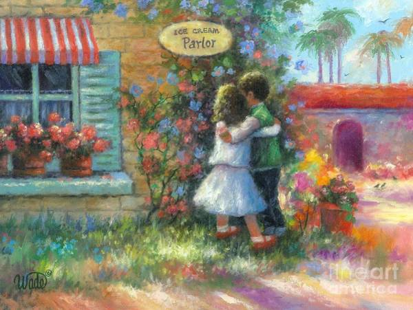 Wall Art - Painting - Ice Cream Hugs by Vickie Wade