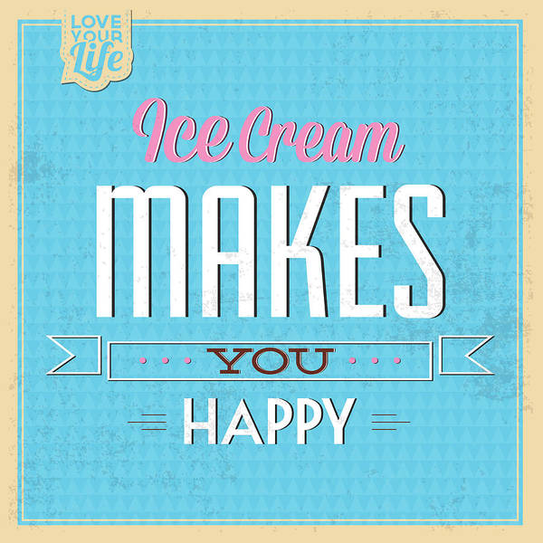 Laughs Wall Art - Digital Art - Ice Cream by Naxart Studio