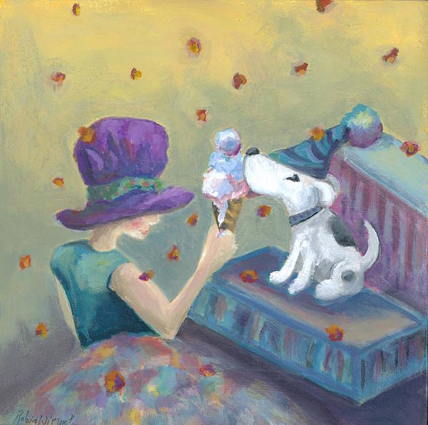 Wall Art - Painting - Ice Cream Party by Robin Wiesneth