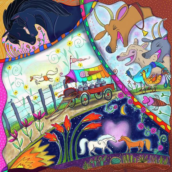 Wagon Digital Art - Ice Cream Pony by Marti McGinnis