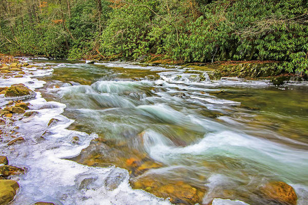 Photograph - Ice Creek by Dale R Carlson