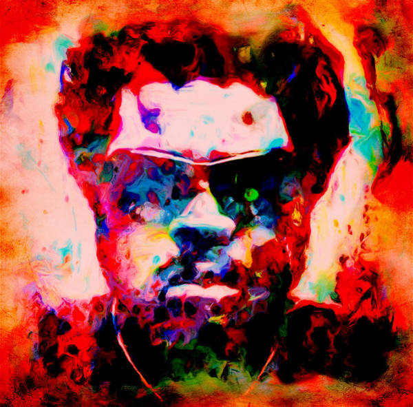 The Mac Wall Art - Painting - Ice Cube 03c by Brian Reaves