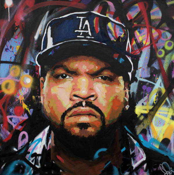 Spray Paint Painting - Ice Cube by Richard Day