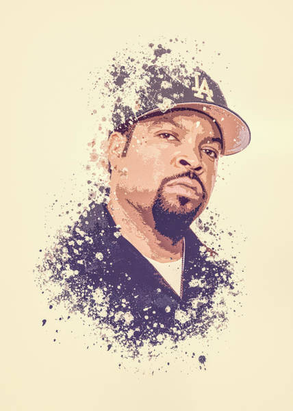 Cube Painting - Ice Cube Splatter Painting by Milani P