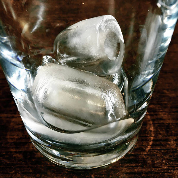 Tonic Photograph - Ice Cubes In A Glass by Tom Gowanlock