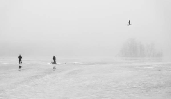 Ice Fishermen Art Print