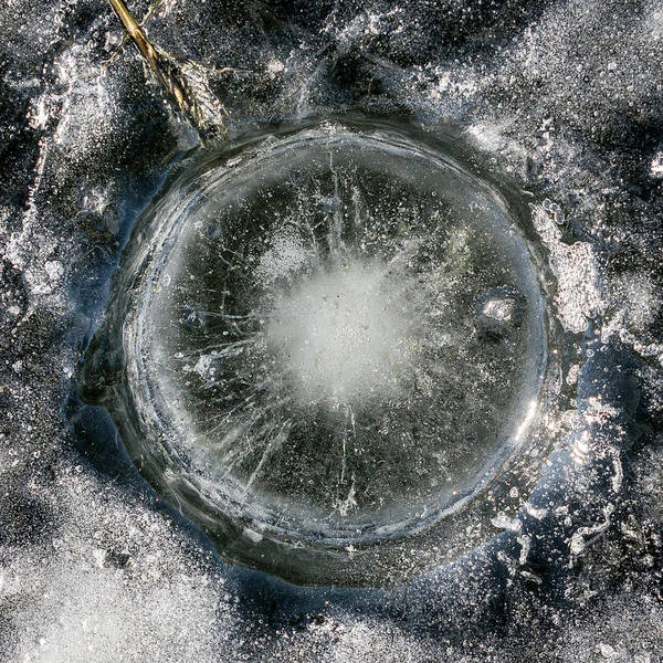 Photograph - Ice Fishing Hole 22 by Steven Ralser