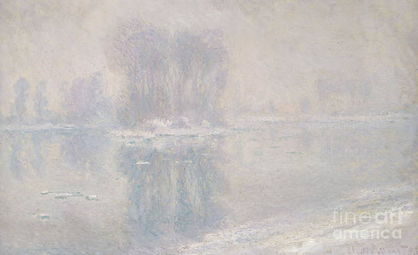 Snow Bank Painting - Ice Floes, 1893 by Claude Monet