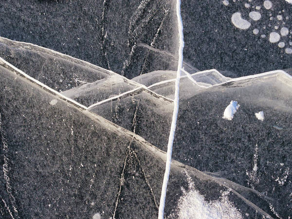 Photograph - Ice Fractures -xii by Steven Ralser