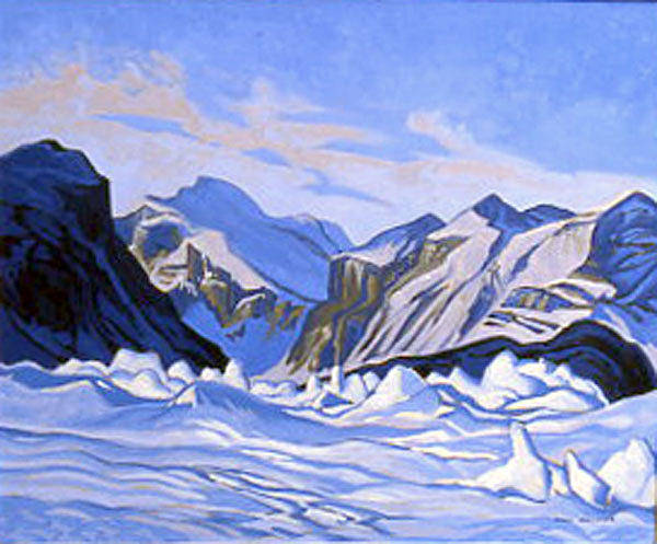 Wall Art - Painting - Ice Hummocks Pangnirtung Fiord by Paul Gauthier