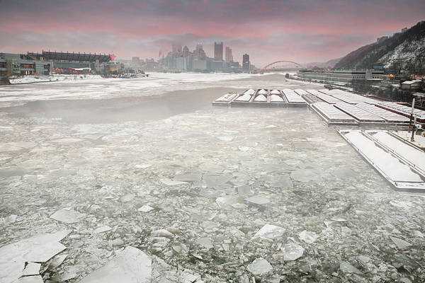 Warhol Photograph - Frozen Allegheny River  by Emmanuel Panagiotakis