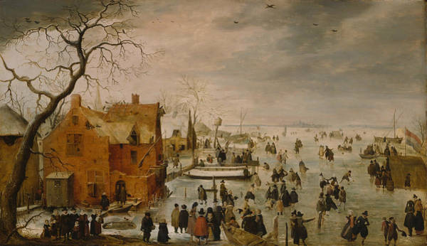 Painting - Ice Landscape by Hendrick Avercamp