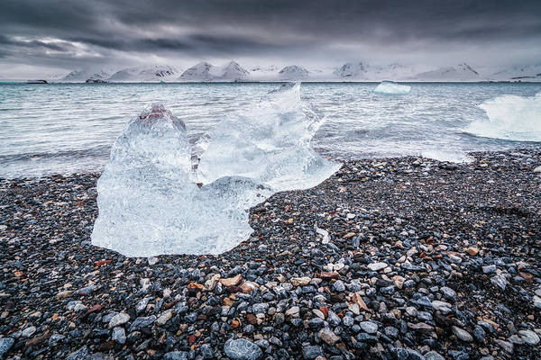 Photograph - Ice On The Beach by James Billings