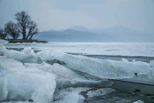 Wall Art - Photograph - Ice On The Lake by Hyuntae Kim
