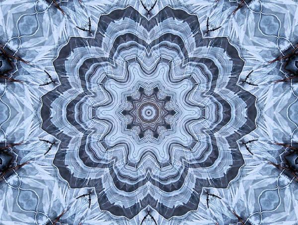 Digital Art - Ice Patterns Snowflake by Kristin Elmquist
