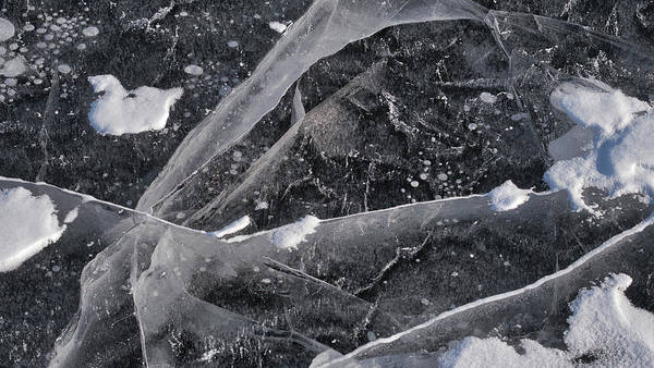 Photograph - Ice Patterns Xv by Steven Ralser