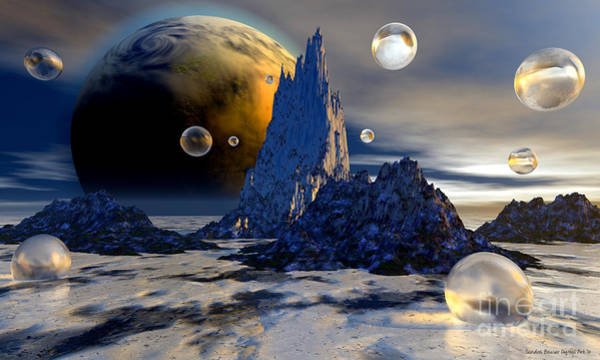 Wall Art - Digital Art - Ice Planet by Sandra Bauser Digital Art
