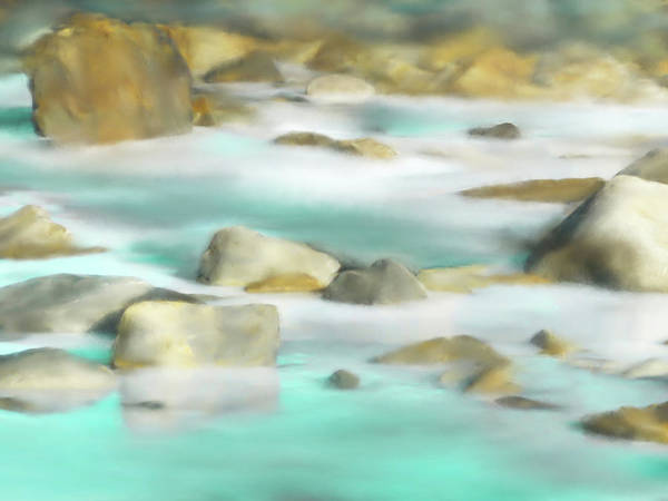 Frozen River Digital Art - Ice River by Aw Gallery
