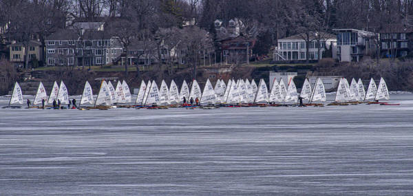 Photograph - Ice Sailing -  Madison - Wisconsin by Steven Ralser