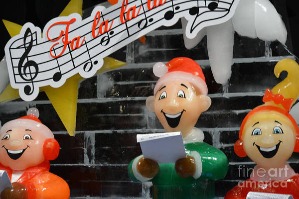 Carol Singing Photograph - Ice Sculpture Of Children Singing Carols by Ruth Housley