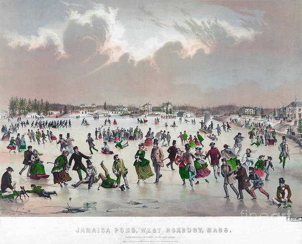 Painting - Ice Skating, C1859 by Granger