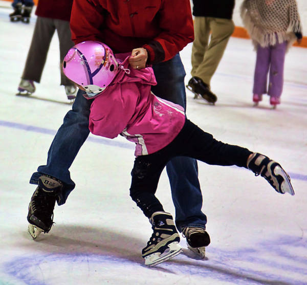 Photograph - Ice Skating Lesson by Tatiana Travelways