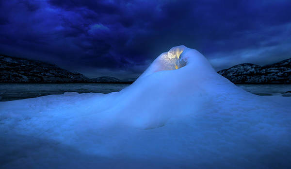 Photograph - Ice Volcano by John Poon